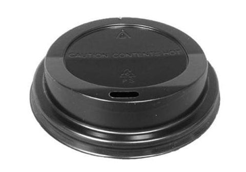 Hot Beverage Black Dome Lids - 10/20 oz.