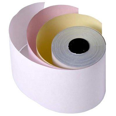 "3 Ply CORED -  3"" x 65 Ft Bright Bond Paper, 1 box of 50 rolls"