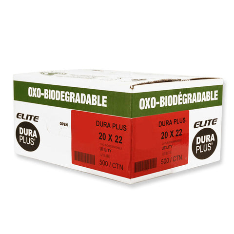 "DURA PLUS Elite 20""x 22"" OXO Clear/Poly. Garbage Bags Cs/500 (Utility)"