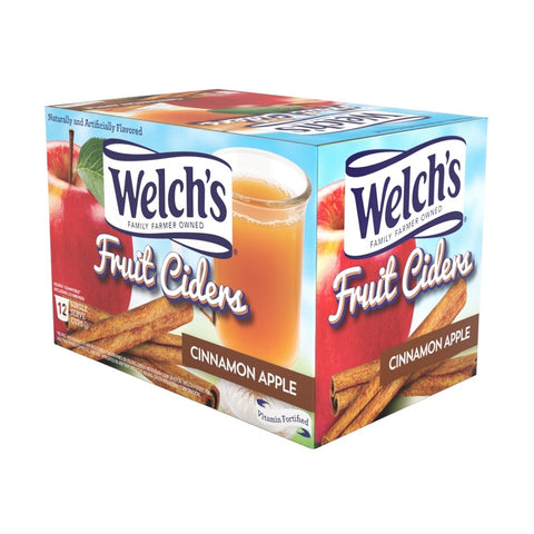 Welch's Cinnamon Apple Single Serve Fruit Cider (12 Pack)