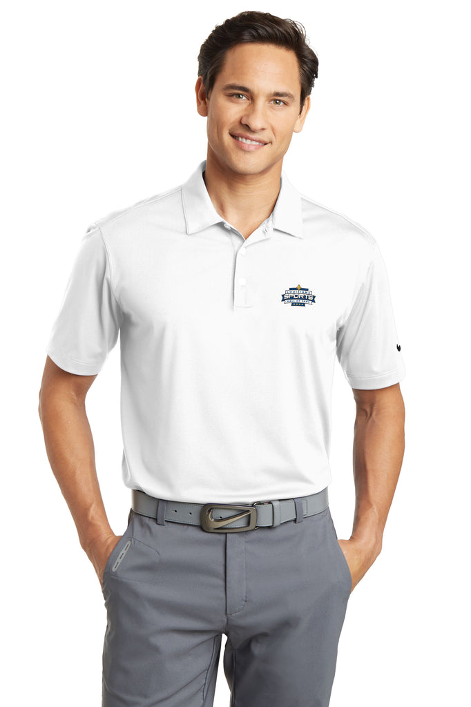 LSHOF - Nike Golf Men's BIG and TALL Dri-Fit Micro Pique Polo (WHITE)