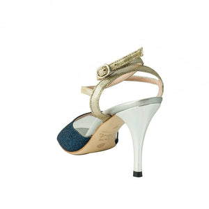 Exclusive Comme il Faut Tango Shoes - Azul Noche y Plata