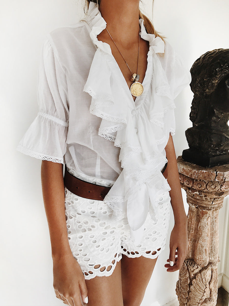 The Vetiver Collection | Mystic Ruffled Top