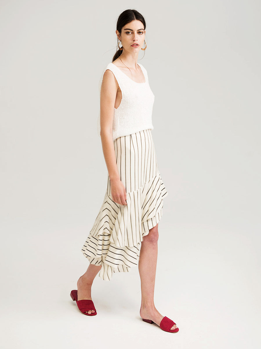 Richards Ruffle Skirt - Vetiver