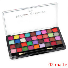 Bright Matte 36 Color Eye Shadow Set With Brush