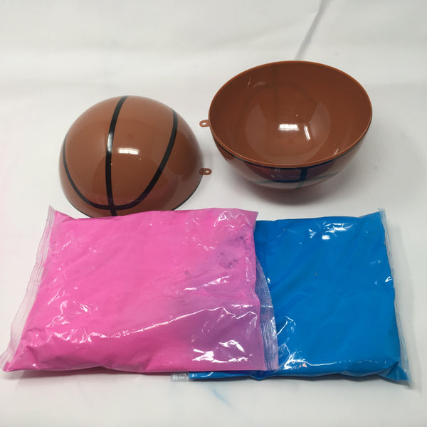 Gender Reveal Basketball Kit - Pink and Blue