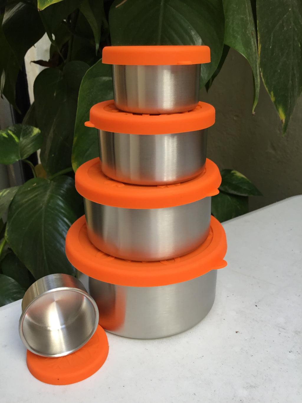 Stainless Steel Round Containers Set - 5 pcs