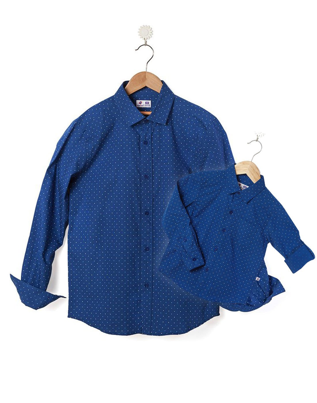 Oxford Cotton Polka Shirt