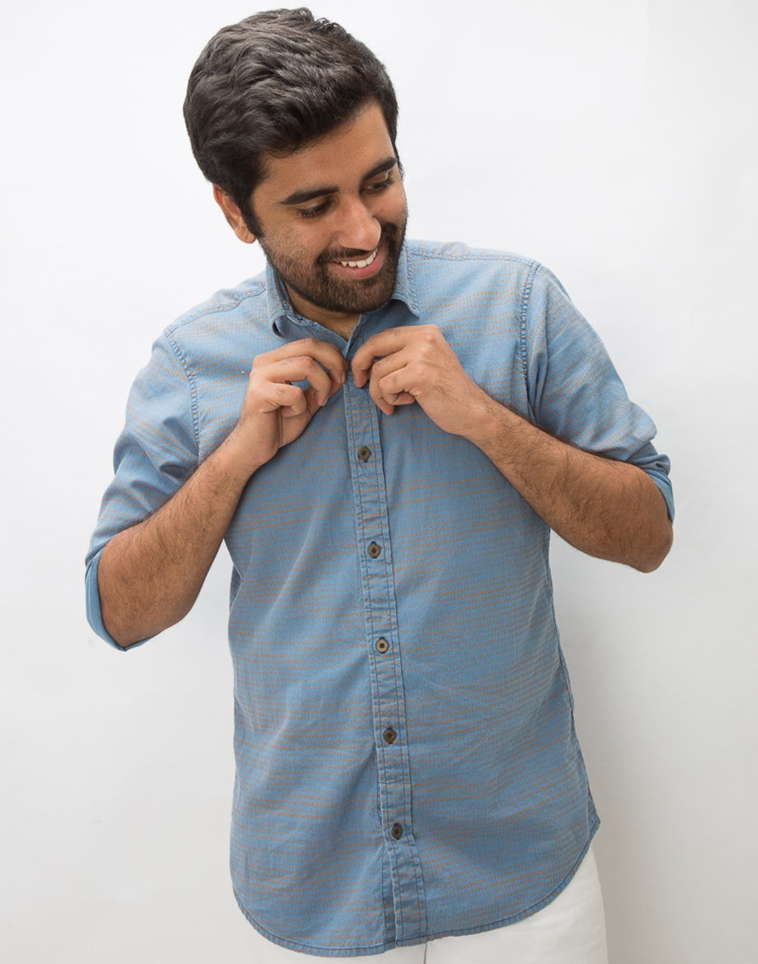 Indigo Denim Flecks Shirt
