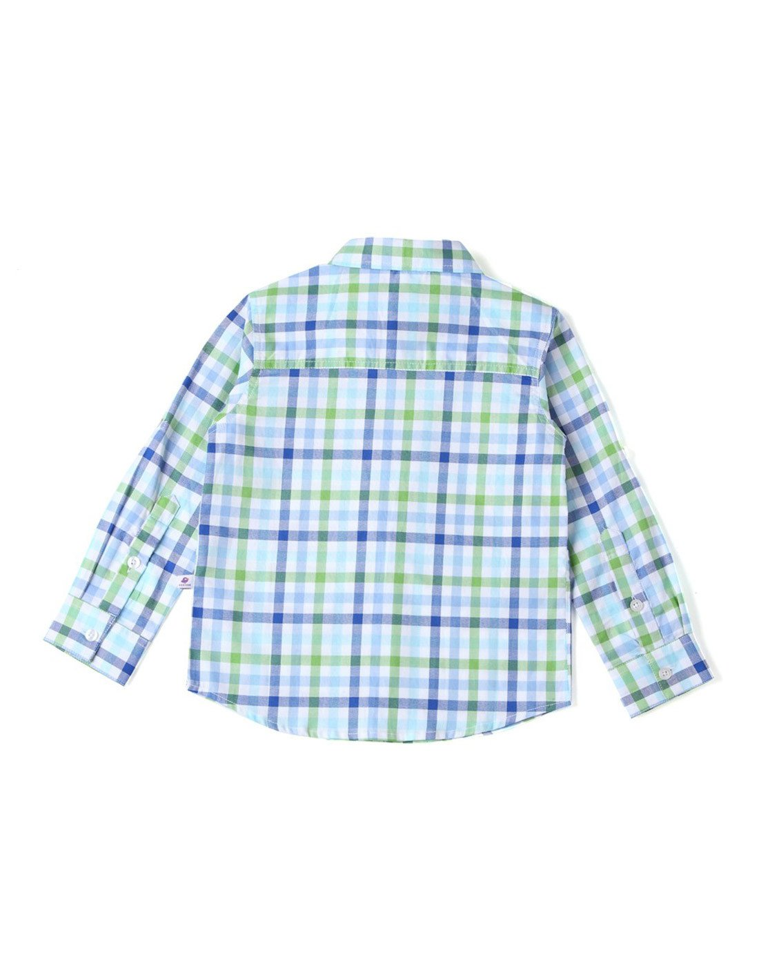 The Nihal - Green Blue Checks Roll-Up Shirt
