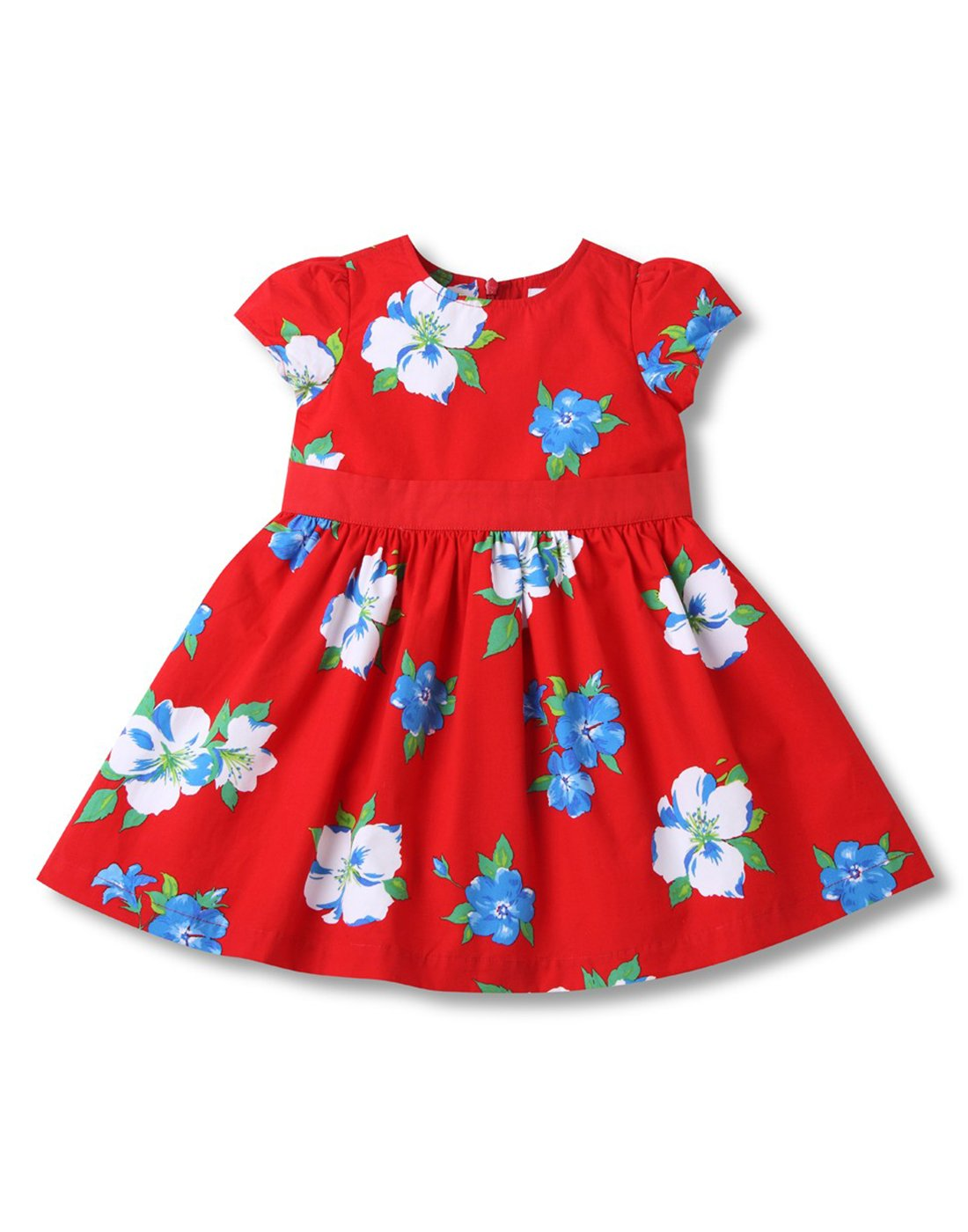 Red & Blue Floral Dress