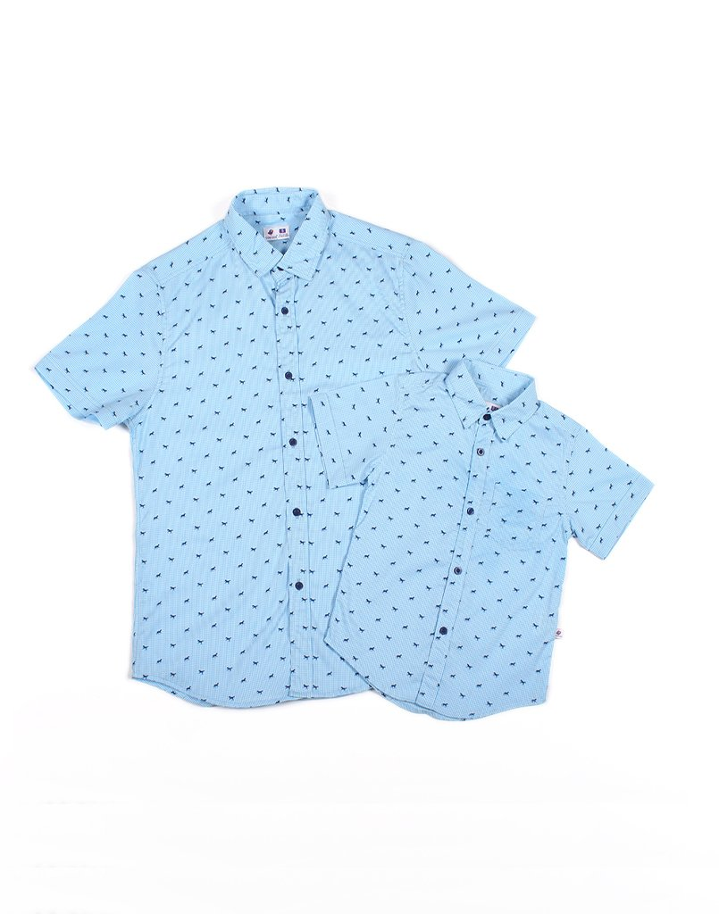 Father - Blue Horse Checks Shirt