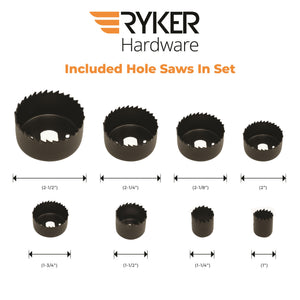 10 Piece Hole Saw Kit - Ryker Hardware