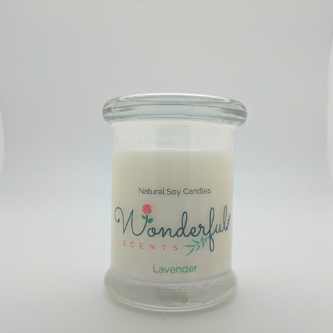 8 oz Lavender Soy Wax Candle with Wood Wick Status Jar