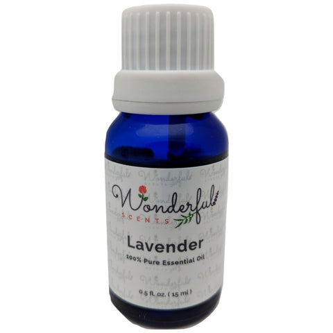 Wonderful Scents Lavender Essential Oil 15 ml Bottle New Label