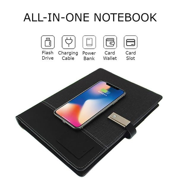 Unbelievable All-in-one Notebook: USB Flash Drive + Wireless Power Bank + Card Slot + More