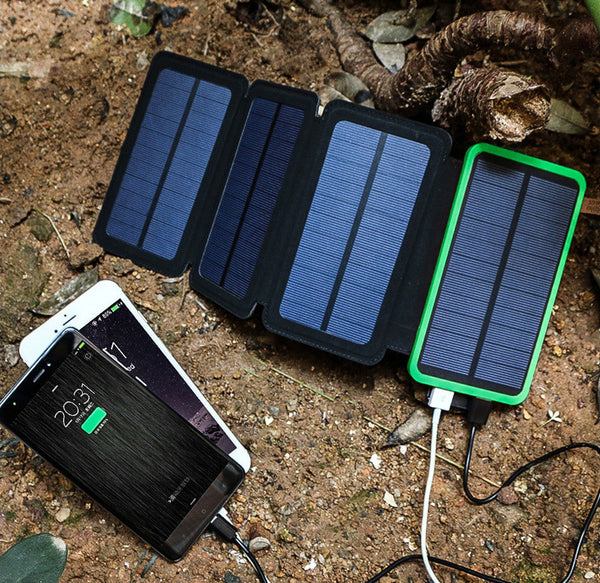 Get Energy From Sunlight With Fordable Dual Usb 4 Panel