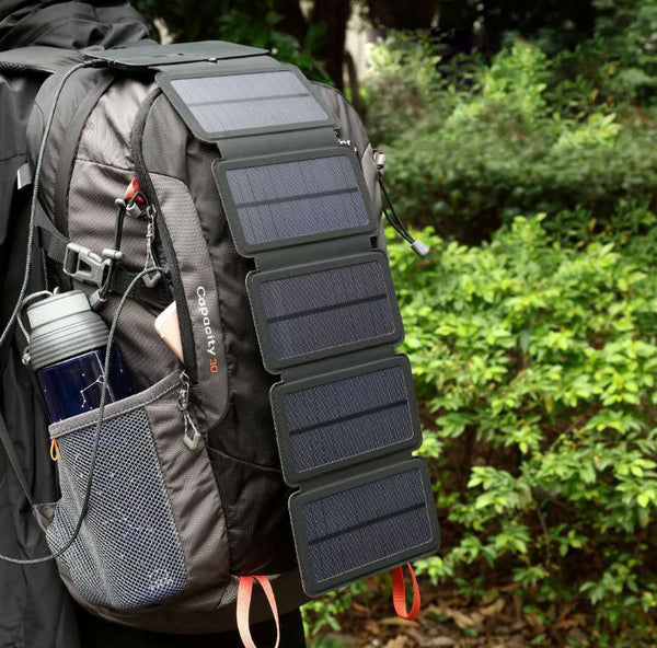 Portable Solar Power Bank With 5 Foldable Solar Panels, Faster Than You Think