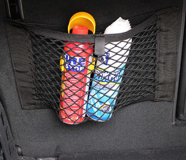 Universal Detachable Mesh Net Car Organizer With 1 Second Hook & Loop Installation