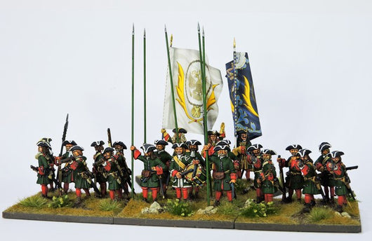 RB1 Russian Battalion Firing and Loading with Pikes - Warfare Miniatures USA