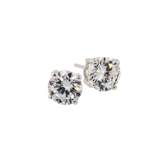 1.5 CT Silver Stud Earrings