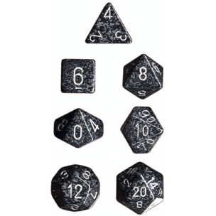 Dice 7-set Speckled (16mm) 25318 Ninja