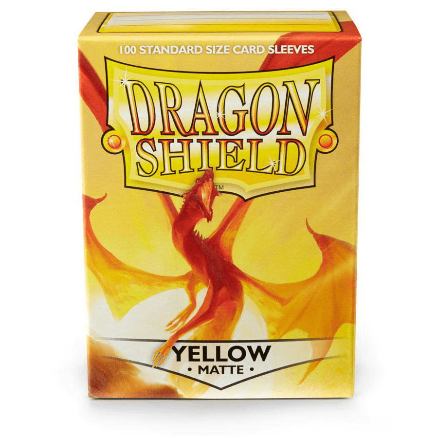 Sleeves Dragon Shield (100ct) Matte : Yellow