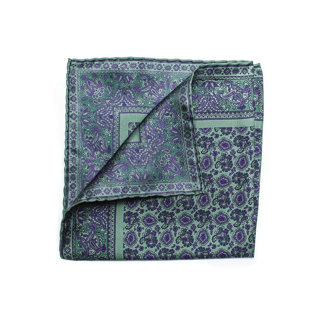Men's Pocket Square | Lingo Luxe The Valley-Lingo Luxe Bespoke