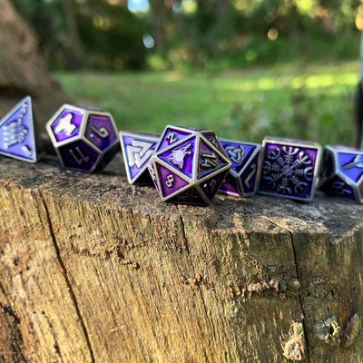 Doppelgänger - Norse Themed Metal Dice Set