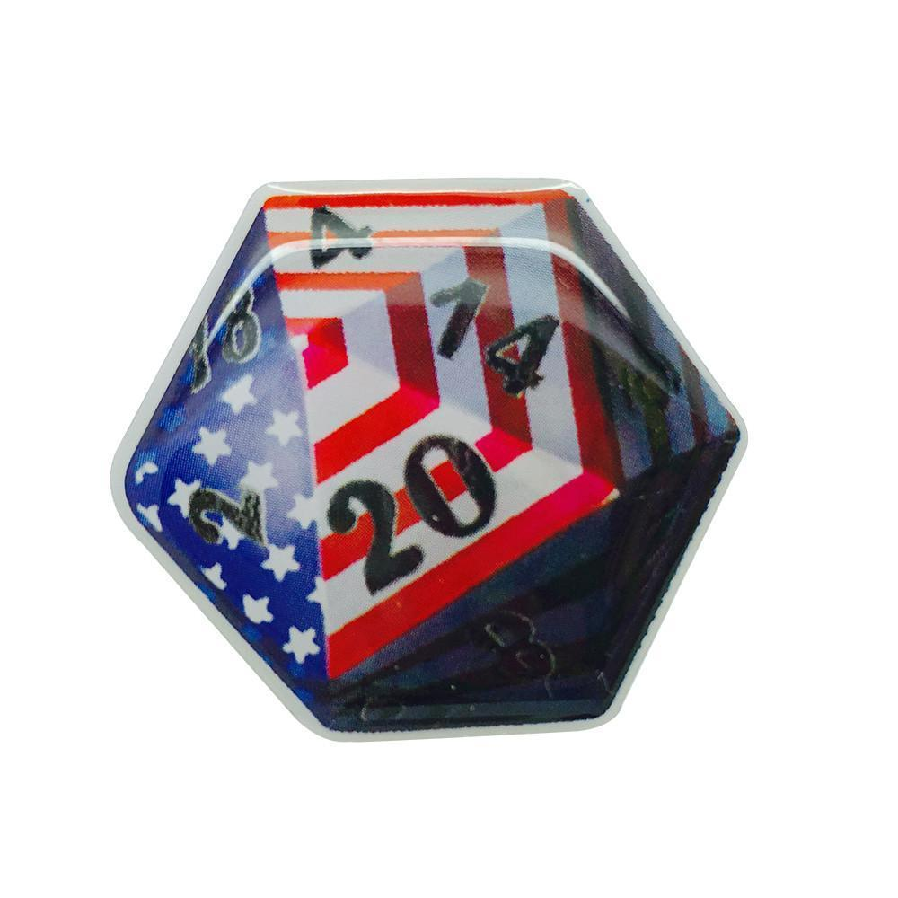 American Flag Adventure Pin Metal by Norse Foundry-Pins-Norse Foundry-DND Dice-Polyhedral Dice-D20-Metal Dice-Precision Dice-Luxury Dice-Dungeons and Dragons-D&D-