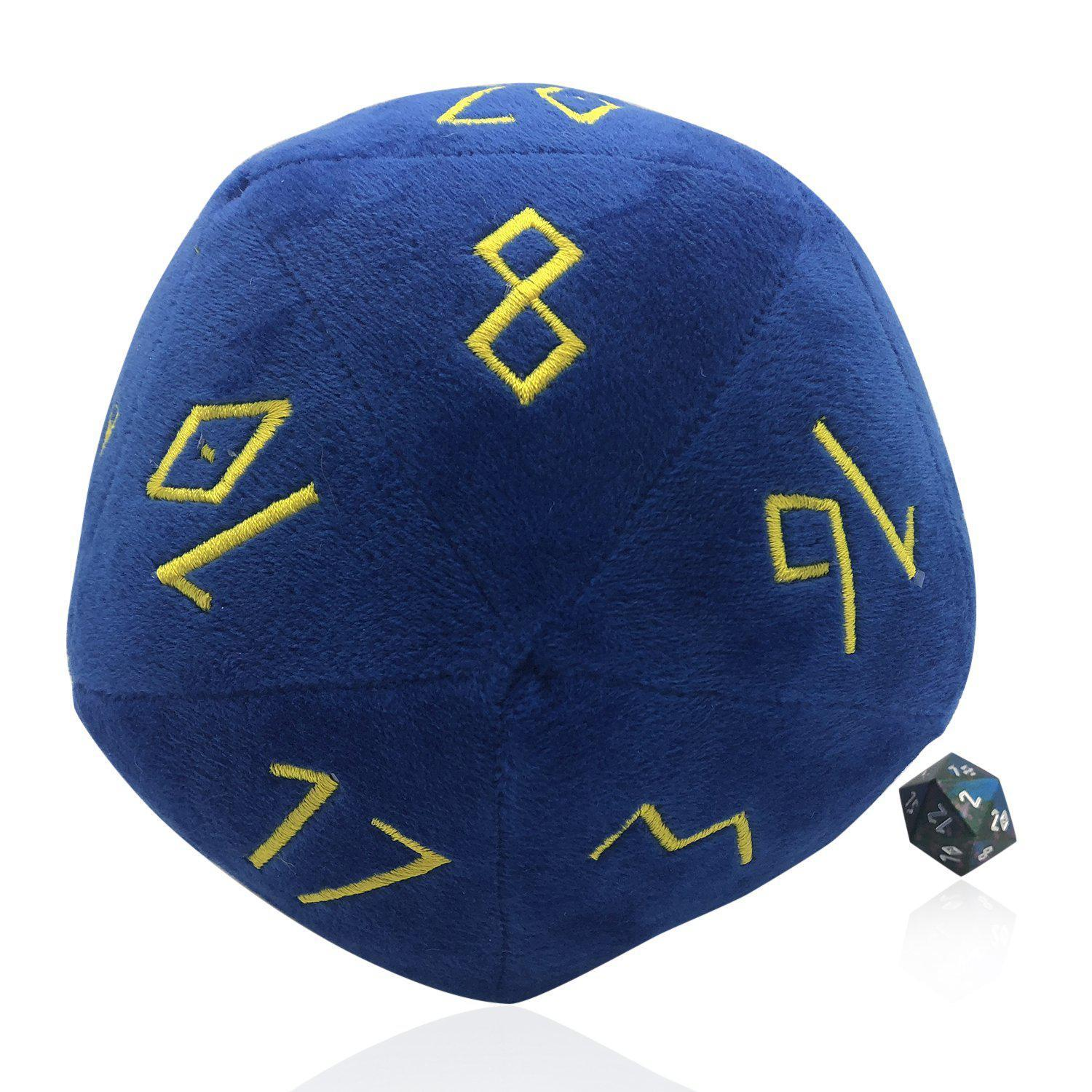 Noble Blue Plushie Boulder 170mm D20 Plush Soft Dice-Dice-Norse Foundry-DND Dice-Polyhedral Dice-D20-Metal Dice-Precision Dice-Luxury Dice-Dungeons and Dragons-D&D-