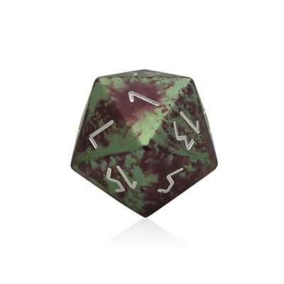 Pixie Dust - Wondrous Boulder® 55mm D20 6061 Aircraft Grade Aluminum Metal Die-Dice-Norse Foundry-DND Dice-Polyhedral Dice-D20-Metal Dice-Precision Dice-Luxury Dice-Dungeons and Dragons-D&D-