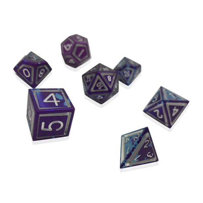 Wondrous Nimbus Precision CNC Aluminum Dice Set - Hyperspace-Aluminum Dice-Norse Foundry-DND Dice-Polyhedral Dice-D20-Metal Dice-Precision Dice-Luxury Dice-Dungeons and Dragons-D&D-