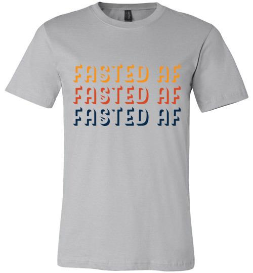 Fasted AF T-Shirt Fasting Shirt, Canvas Unisex - Kari Yearous Photography WinonaGifts KetoGifts LoveDecorah