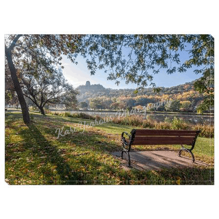 "Canvas Wrap 5"" x 7"" Seat with a View of Sugarloaf Winona, Minnesota - Kari Yearous Photography WinonaGifts KetoGifts LoveDecorah"