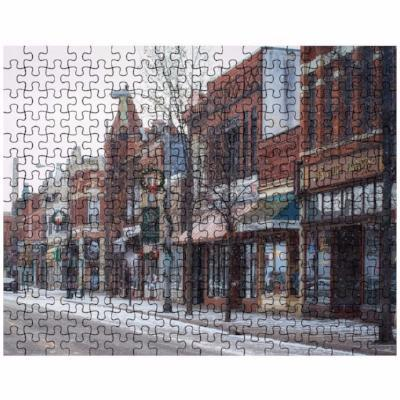 Puzzle Snowy Third Street in Winona Minn. - Kari Yearous Photography WinonaGifts KetoGifts LoveDecorah