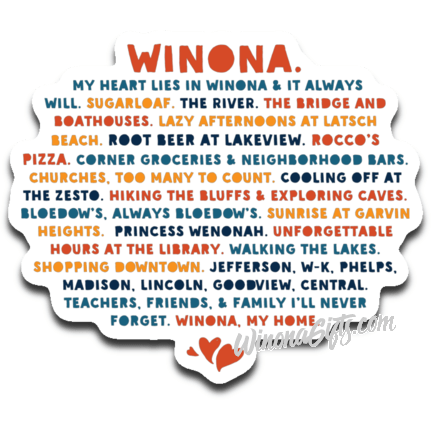 Decal My Heart Lies In Winona, Public Schools - Kari Yearous Photography WinonaGifts KetoGifts LoveDecorah