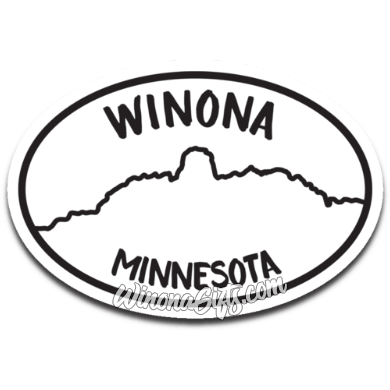 Winona Decal Oval With Sugarloaf - Kari Yearous Photography KetoLaughs