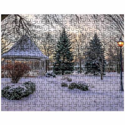 Puzzle Snowy Gazebo at Windom Park Winona - Kari Yearous Photography WinonaGifts KetoGifts LoveDecorah