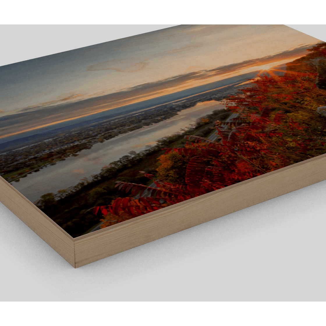 Wood Print Autumn Sunrise at Garvin Heights - Kari Yearous Photography KetoLaughs