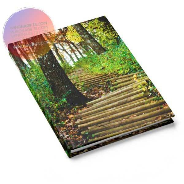 Winona Minnesota Hardcover Notebook Journal Garvin Heights Steps - Kari Yearous Photography KetoLaughs