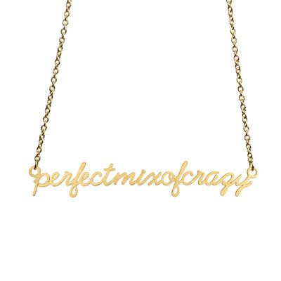 Perfect Mix of Crazy Script Necklace Short Necklace - Jaeci Jewlery