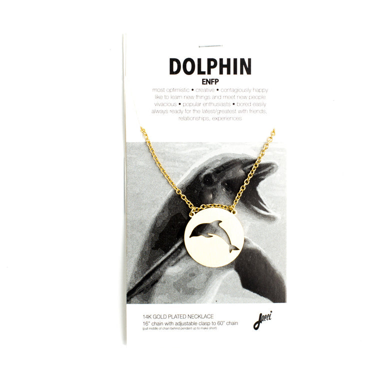 Dolphin Spirit Animal Necklace ENFP Spirit Animal Necklace - Jaeci Jewlery