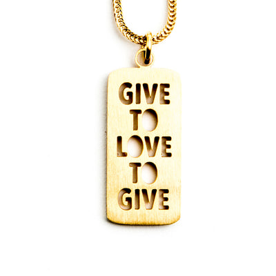 GIVE TO LOVE  LOVE TO GIVE NECKLACE Religious Jewelry - Jaeci Jewlery