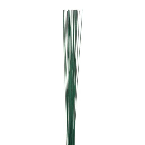 24 Gauge Painted Floral Stem Wire Green