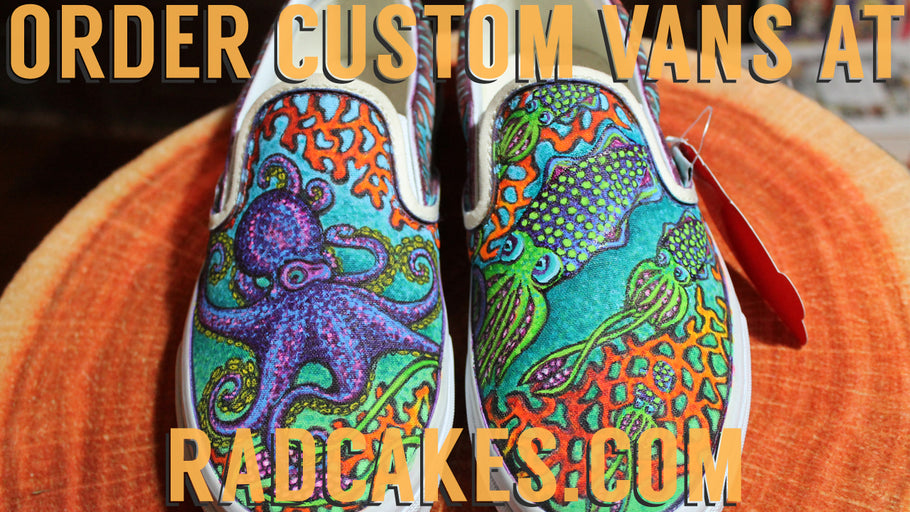 Time Lapse: Custom designed Vans Sneakers with Octopus & Squid