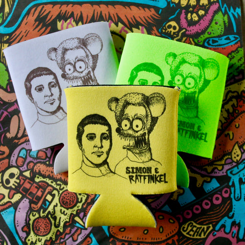 funny Paul Simon rat fink koozies for sale Simon and Garfunkel art