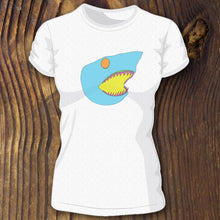 Bella Canvas triblend Blue Shark Head shirt design by RadCakes Custom Shirt Printing