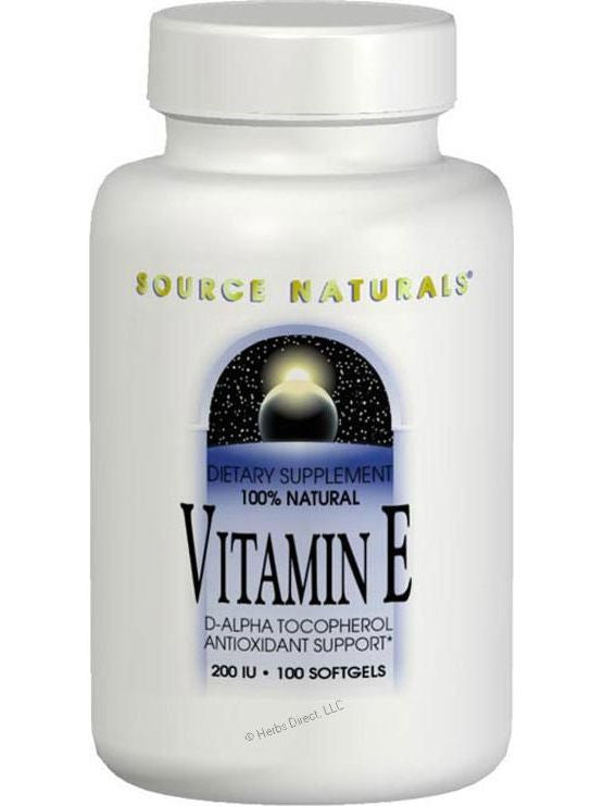 Source Naturals, Vitamin E d-alpha Tocopherol 400 IU, 50 softgels