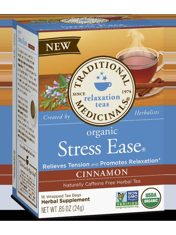 Traditional Medicinals, Organic Stress Ease Cinnamon Tea, 16 bags